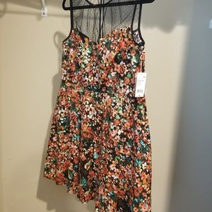 NWT Womens Flowered Fit n Flare Sz 14